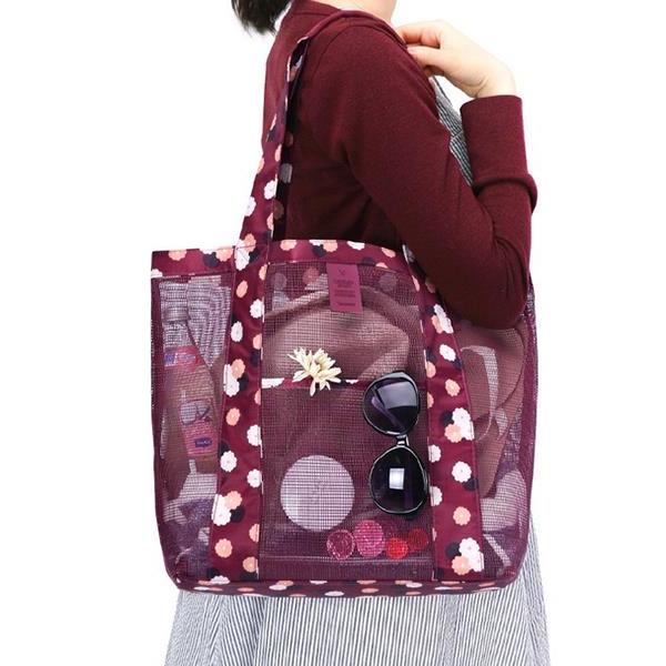 Nylon Lightweight Picnic Handbag Shoulder Bag