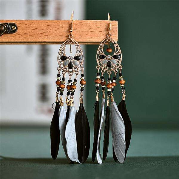 Vintage Fashion Feather Earrings