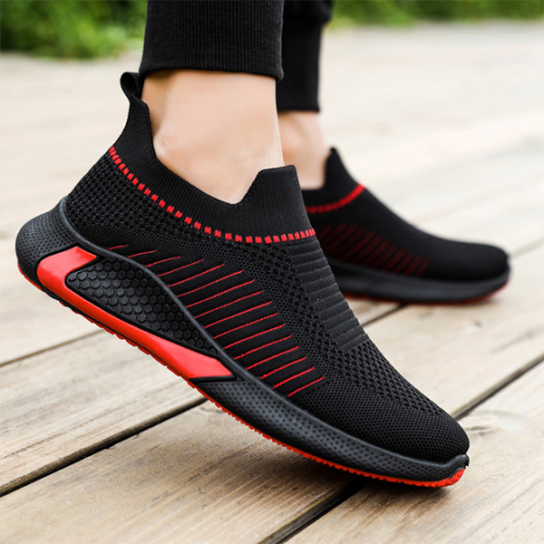 Men's New Summer Solid Color Breathable Casual Sports Shoes