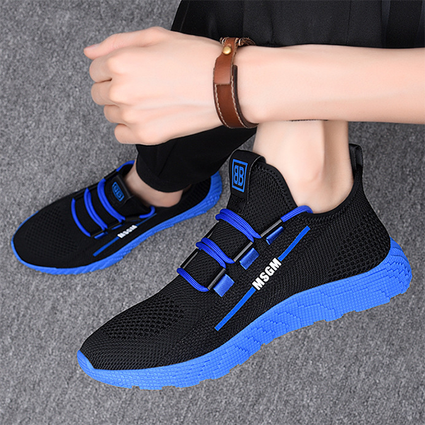 Men's New Summer Fahion Solid Color Breathable Casual Sports Shoes