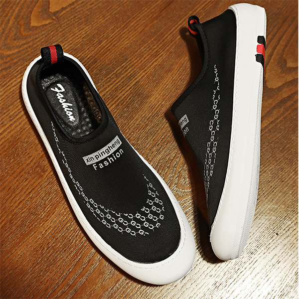 Men's Shoes Summer New Breathable Lycra Cotton Lazy Fashion Casual Shoes