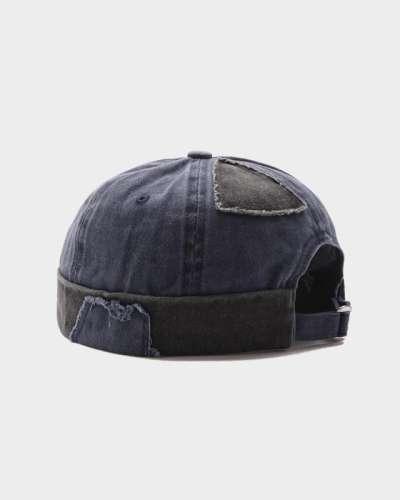 COLLROWN Men & Women Patchwork Color Casual Fashion Brimless Beanie Landlord Cap Skull Cap