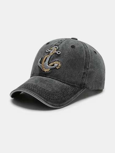 Outdoor Personalized Edging Washed Denim Baseball Cap Sunshade Hat