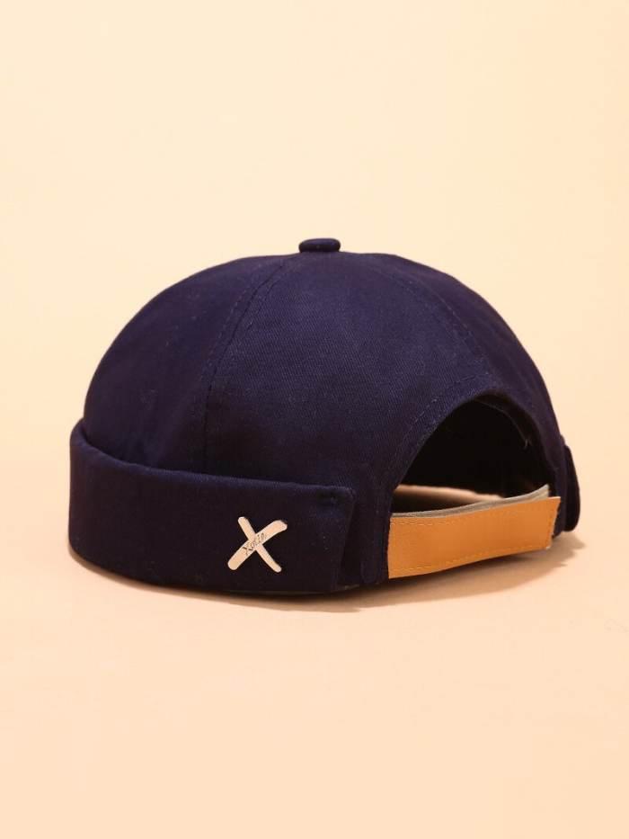 Men & Women Sailor Cap Rolled Cuff Retro Brimless Hats Beanie Hats Skull Caps