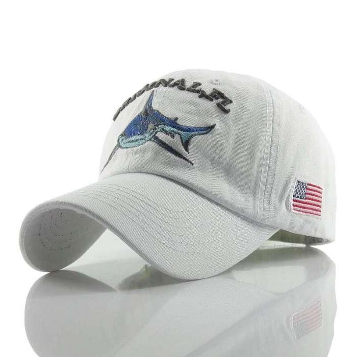 Baseball Cap Retro Sun Hat Shark Embroidery Hats