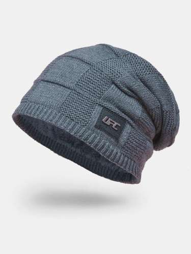 Men Wool Plus Thick Winter Keep Warm Windproof Knitted Hat
