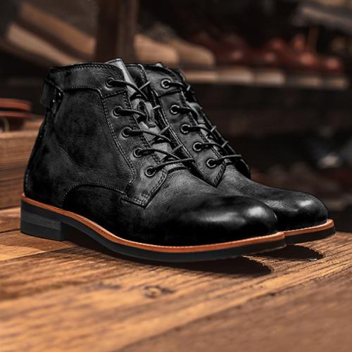 High-Top British Round Toe Business Outdoor Retro Men's Boots