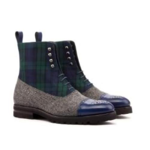 Check Chelsea Color Block Boots Men's Boots