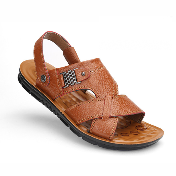 Men's Casual Beach Leather Sandals