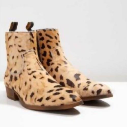 New Chelsea Leopard Print Men's Short Boots