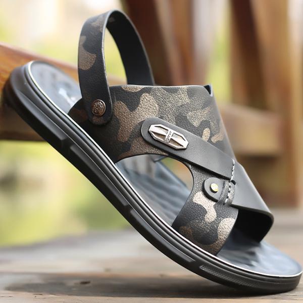 Summer New Men's Trend Leather Polyurethane Sole Sandals