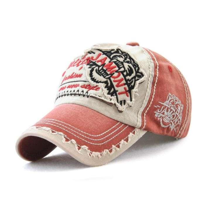 Men Vintage Breathable Cotton Embroidered Letter Baseball Caps Sunshade Adjustable Snapback Hat