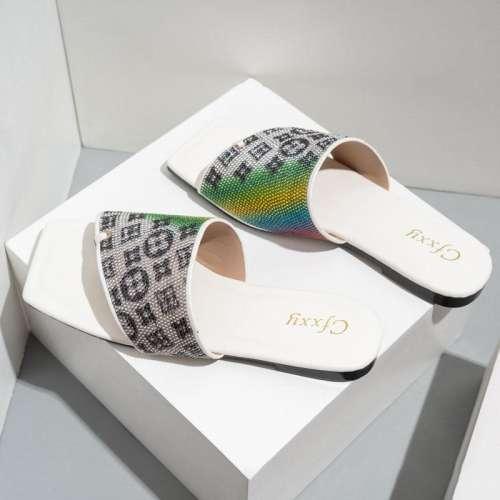 Women's Disc PU Surface Flat Slippers