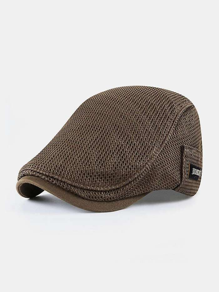 Mesh Breathable Beret Sun Protection Sun Flat Caps