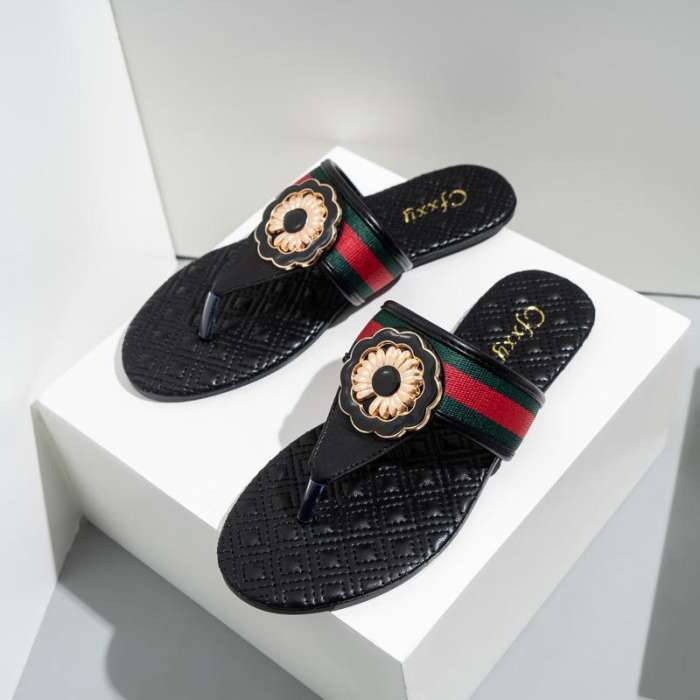 Women's Disc Cloth Surface Flat Slippers