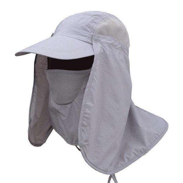 Men Women Neck Cover Sun Fishing Hat Ear Flap Bucket Outdoor UV Protection Cap