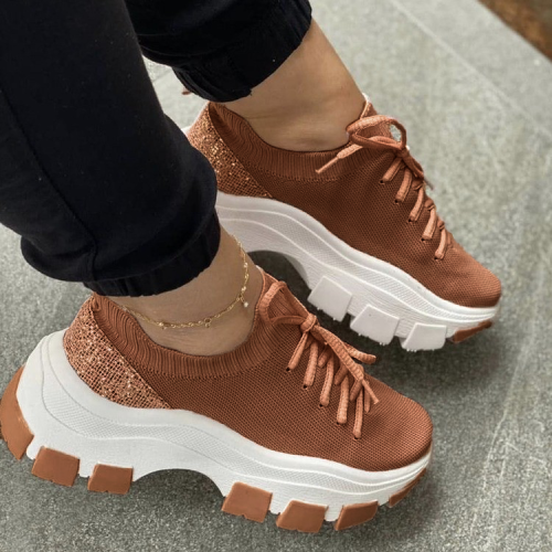 Women Mesh Lace Sneakers