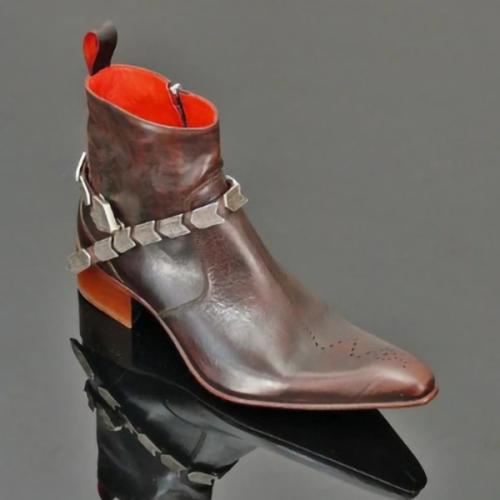New Retro Chain Men's Short Boots