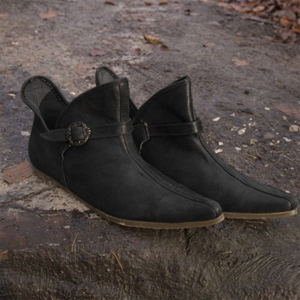 Men's Simple Retro Casual Button Leather Boots
