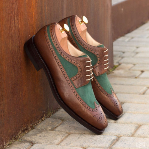 Customized Brock Business Men's Leather Shoes