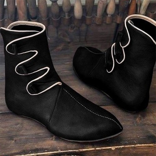 New Style Flat Pointed Toe Retro Simple Men's Boots