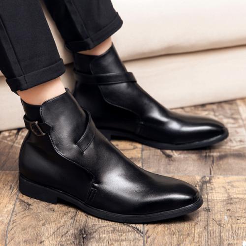 Men's High-top Fashion Retro Cowhide Martin Boots