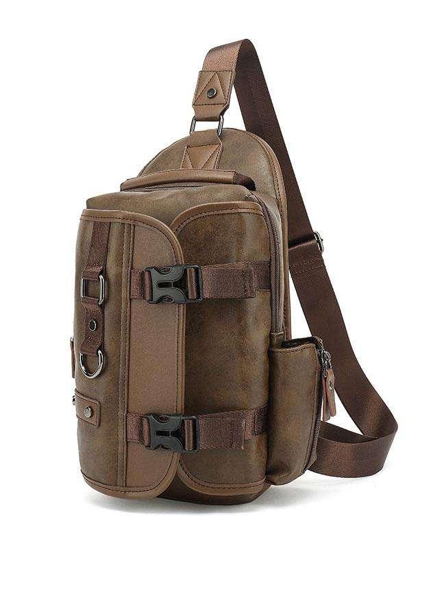 Men Multifunction Wear-resistant Waterproof Crossbody Bag Chest Bag Sling Bag