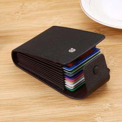 Men Plain Pure Color Multi-slot Card Holder Wallet