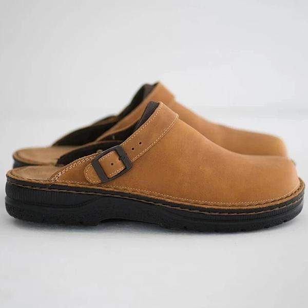 Summer Leather Toe Cap Polyurethane Men's Casual Beach Sandals