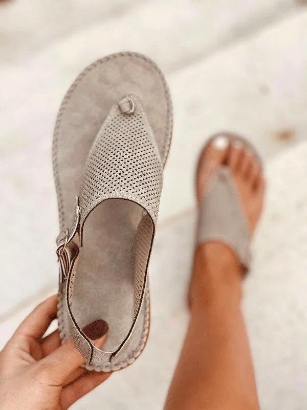 Ladies Plus Szie Hollow Simple Sandal