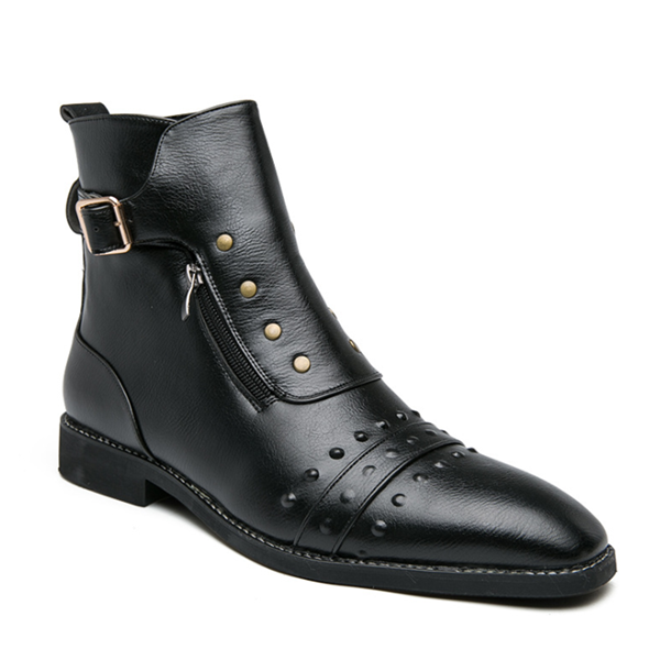 Men's Two-layer Cowhide  Vintage Martin Boots