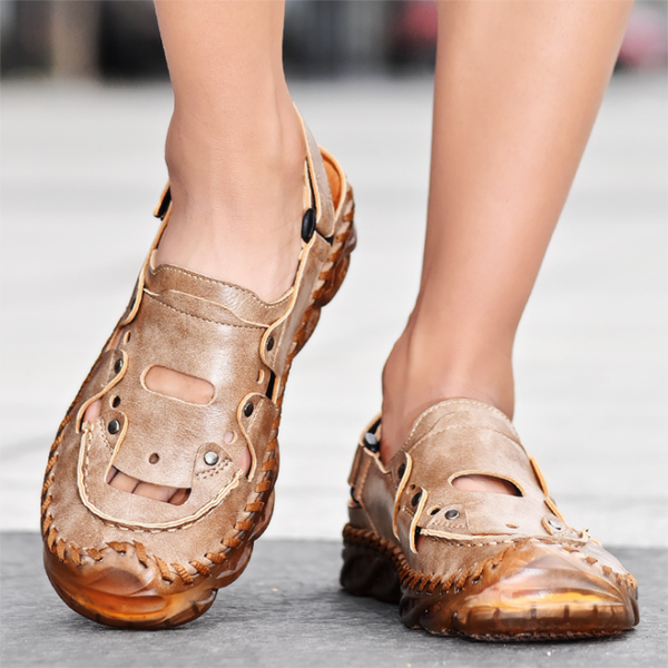 Summer Breathable Baotou Casual Soft Sole Men's Beach Shoes