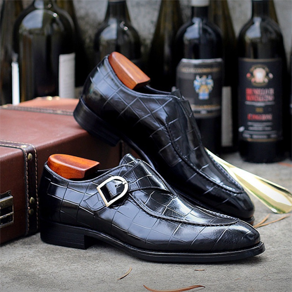 Men's Fashion Business Texture Casual Leather Shoes