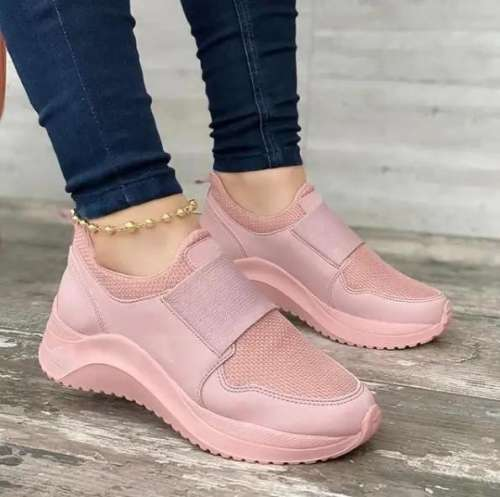 Women's Fashion Elastic Band Flying Knit Sneakers