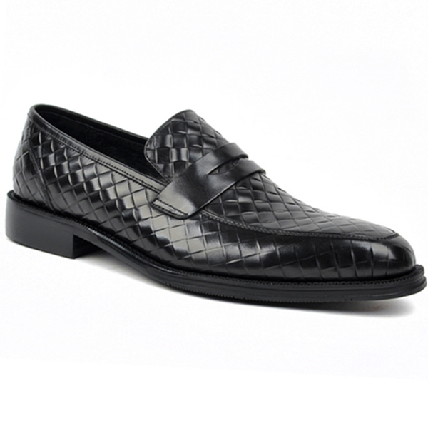 Men's Pattern Business Casual Leather Shoes