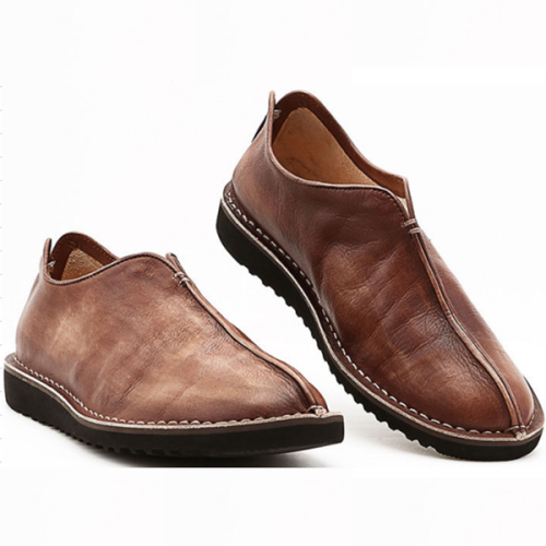 New Style Casual One-step Leather Men's Shoes