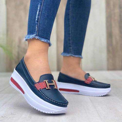 Women's Fashionable Soft Sole Handmade Casual Shoes