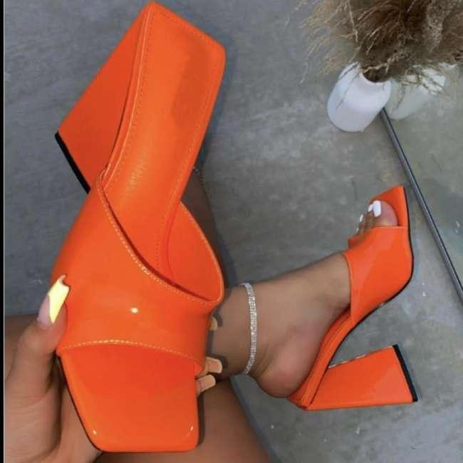 Womens Pu High-heel Buckle Sandals