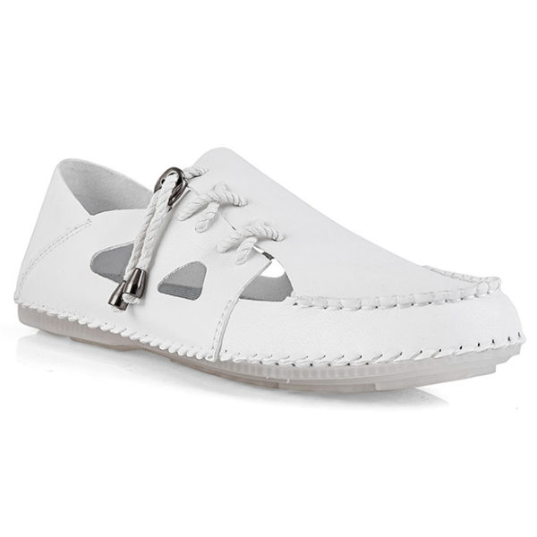 Men's Summer Hollow Small Leather Shoes Casual Beach Sandals