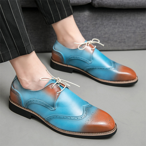 2021 New Men's Color Casual Leather Shoes