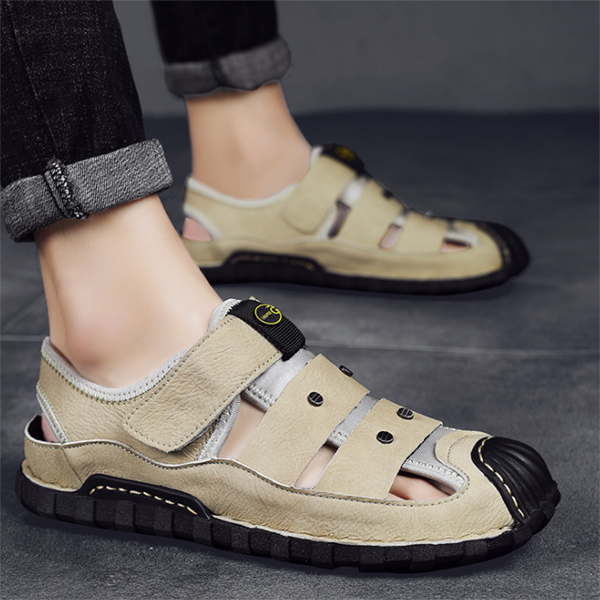 Summer  Hollow Fashion Leather Men's Sandals