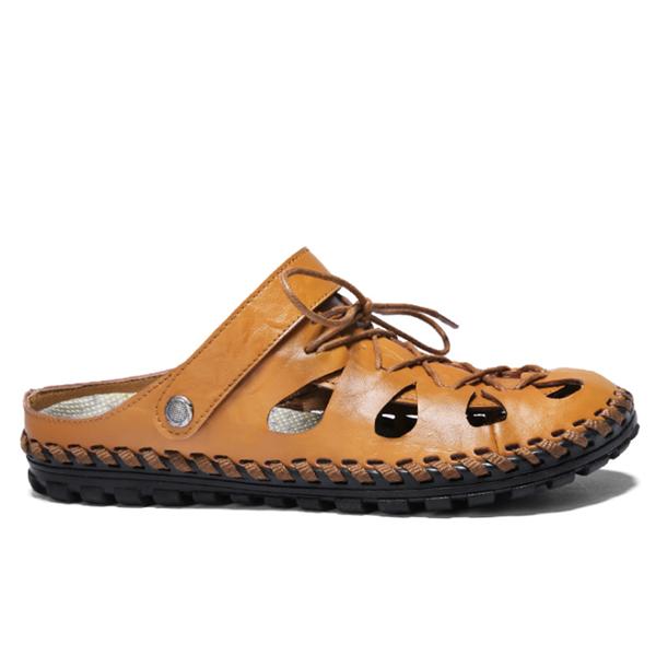 Summer  Hollow  Leather Men's Sandals