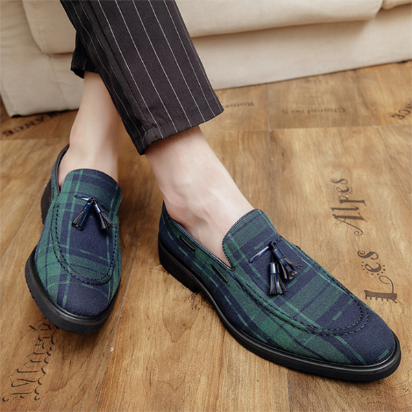 2021 Men's Business Casual Trend Small Leather Shoes