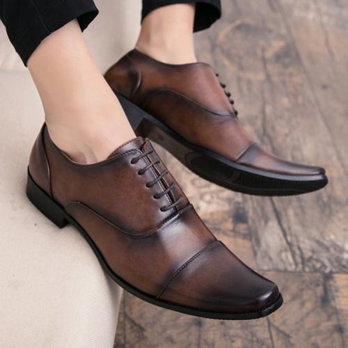 2021 Men's Business Suit Leather Shoes
