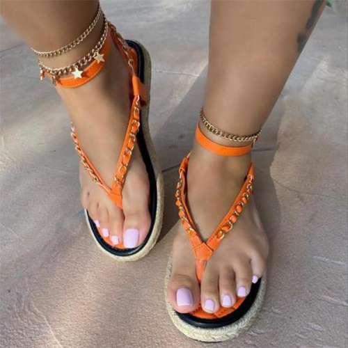 Ladies Fashion Cross Strap Flip-Flop Sandals