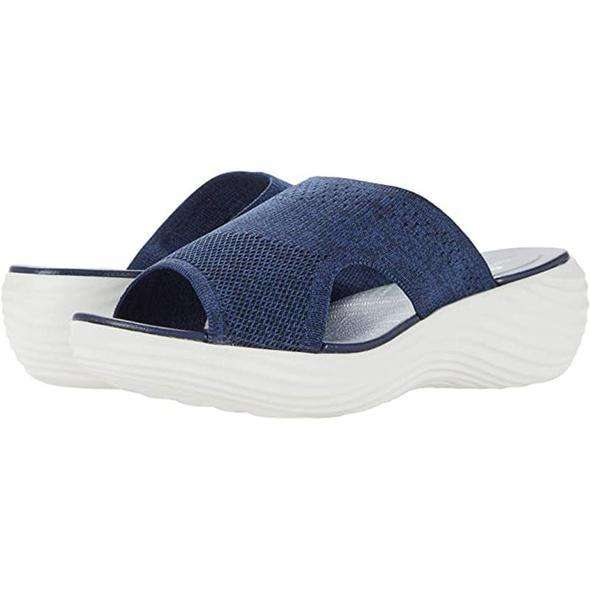 Knitted wedge sports corrective sandals