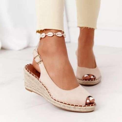 Women Braided Wedge Sandals