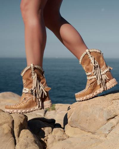 Wedge Moccasin Boots