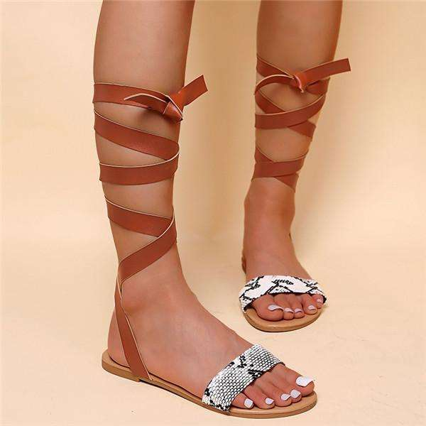 Flat Open Toe Binding Sandals
