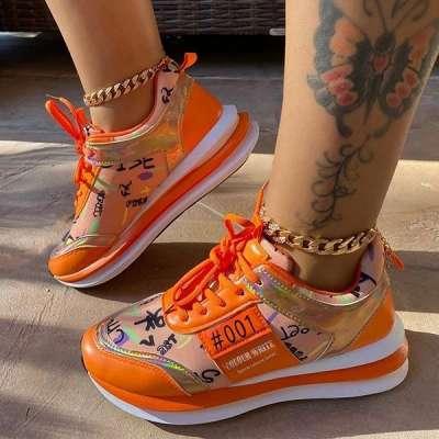 Pattern Platform Sneakers